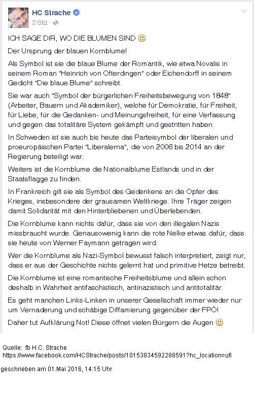 160501 fb Strache Kornblume! Filter