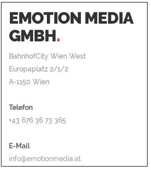 Emotion Media Impressum Webseite Rand