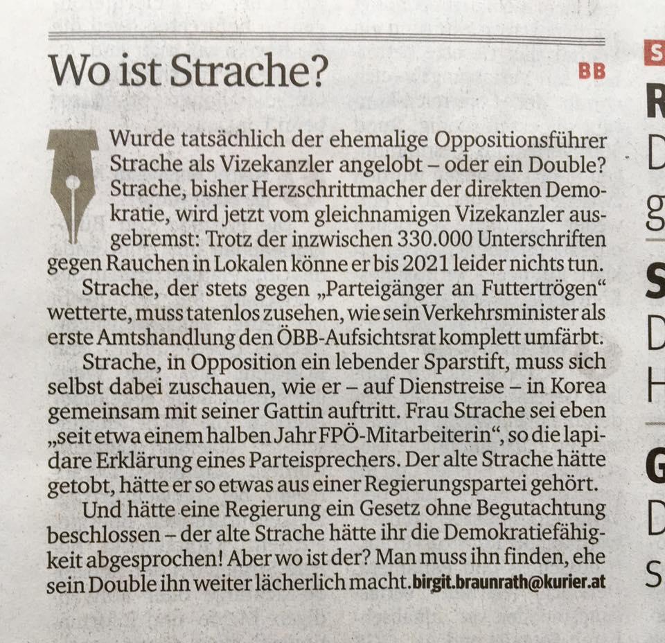 Kurier Strache
